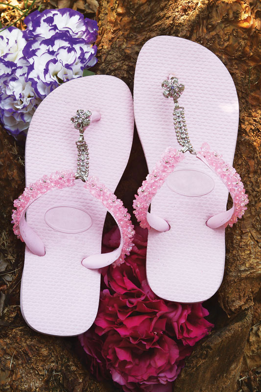 diy flip flop ideas decorate with beads chains